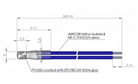 PT100/1000 winding insertion type ZP121X380 TEC