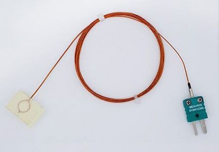 Thermocouple de surface sous plaquette en soie de verre