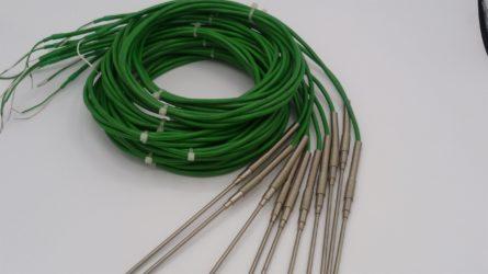 Photo de capteurs de temperature thermocouple de type K avec une sortie en cable robuste PVC cj