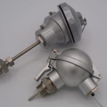PT100 sous tube avec Tête industrielle et raccord G1/4, G1/2