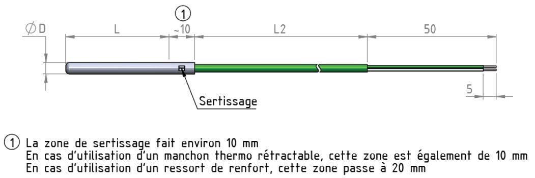 thermocouple tube rigide