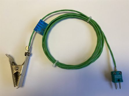 Alligator clip thermocouple