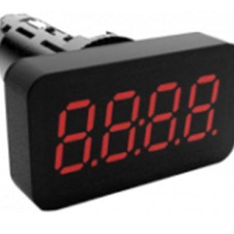 Afficheur miniature de température au format bouton type IN22