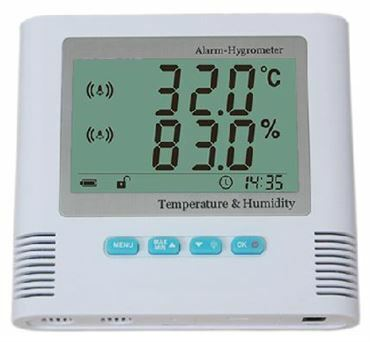 Hygrometer thermometer with alarm type TRHUA200H