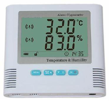 Thermomètre hygromètre avec alarme type TRHUA200H
