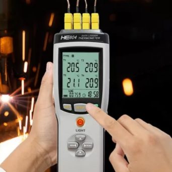 Afficheur enregistreur portable pour thermocouple 1, 2, 4 voies PN6 4K
