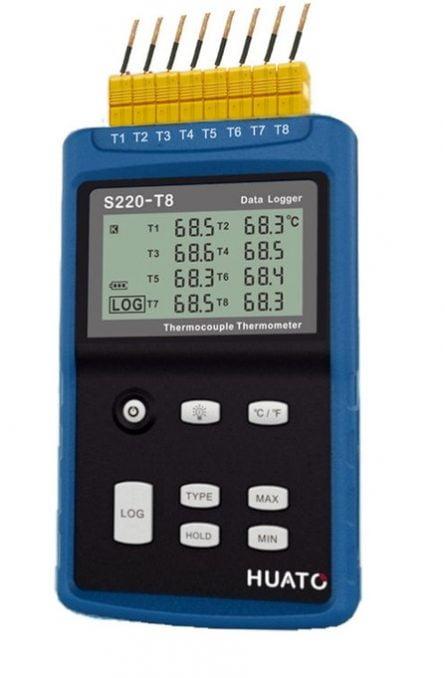 Afficheur enregistreur portable pour thermocouple 8 voies PNE8