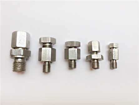 Compression fitting in stainless steel 316, NPT size