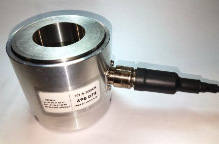 Compression force transducer through hollow shaft FO A SPE A