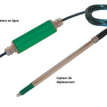 Capteur de déplacement LVDT USB – analogique course 1mm, 2mm, 5mm, 10mm, 25mm