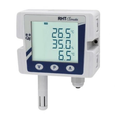 Humidity and temperature sensor with integrated display reference -TRTH